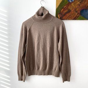 Vintage Boxy Knit Turtleneck Pullover Sweater